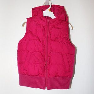 Old Navy Girls 4T Puffer Vest With Hood Rose Pink